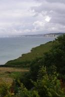 Vue depuis Varengeville, Pays de Caux, Normandie, 6 août 2012, 16:45